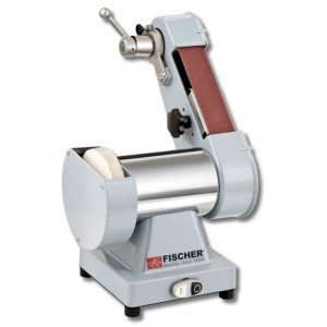Afiladora con cinta abrasiva, especialmente desarrollada para carnicería