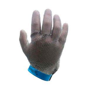 guante metálico de seguridad manulatex azul