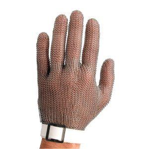 guante metálico de seguridad manulatex blanco