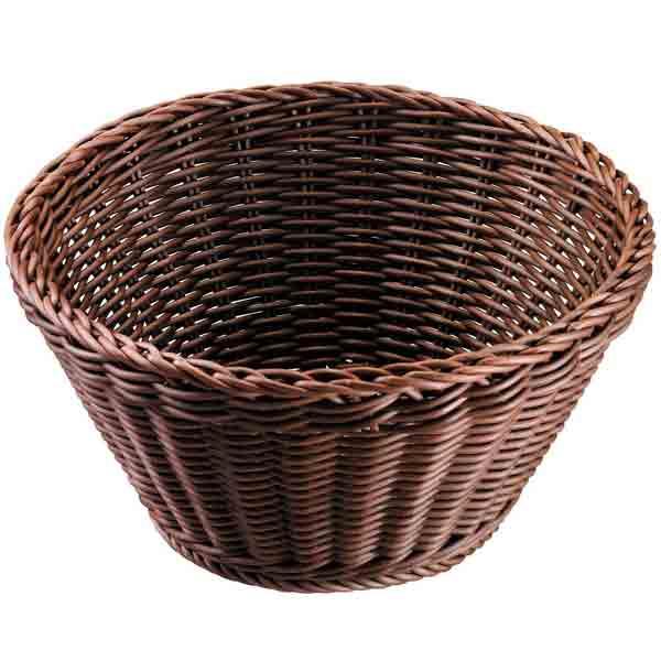Cesta Saleen redonda marrón