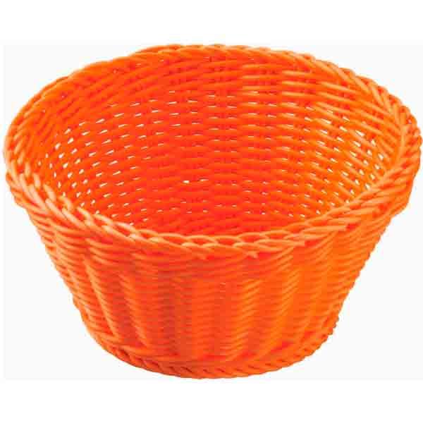 Cesta Saleen redonda naranja