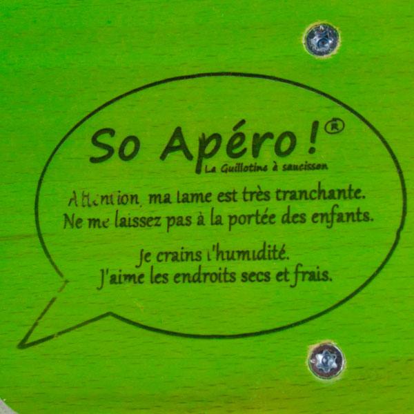 So Apéro cortadora de embutidos original color verde sello original