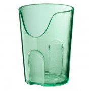 Vaso con corte para nariz 16 cm. Color Verde